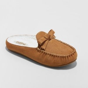 NWT Mad Love Women's Tan Backless Loafer Slippers